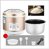 UYZ Reiskocher Mini-Reiskocher (2-5L / 400-900W / 220V) Warmhaltefunktion, hochwertiger Innentopf, Spatel und Messbecher, 2L