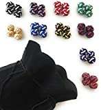 Gentleman: 10 Paare hochwertige multicolor Seidenknoten Manschettenknöpfe