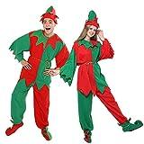 EraSpooky Erwachsene Elfen Kostüm Weihnachten Weihnachtsmann Helfer Kostüm Outfit