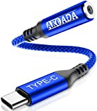 USB C auf 3.5mm Kopfhörer Adapter,AkoaDa USB C auf Klinken Headset Audio Adapter für Aux,Stereo, Headset, MacBook,Samsung S21/S20/S20 Plus/Note 10/A80,iPad Pro,Huawei P30 Pro/P20/P20 Pro usw(Blau)