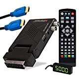 RED OPTICUM AX Lion 5 AIR inkl. HDMI Kabel - DVB-T2 H.265 Receiver mit Aufnahmefunktion - externer IR Sensor mit LED Display - HDMI/SCART - USB 2.0 I 12V Netzteil ideal für Camping