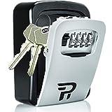 Rudy Run Schlüsselkasten für den Außenbereich – Wandhalterung, Kombinationsschloss für Hausschlüssel – Schlüsselverstecker zum Verstecken eines Schlüssels im Freien – Wasserdichter Schlüsselsafe