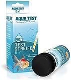 Mr. Petz Aqua Test - 60 x Optimierte Aquarium Teststreifen - 6in1 Schnelltest für Aquariumwasser - PH Test Stripes - Die 6 wichtigen Werte zur Überprüfung der W