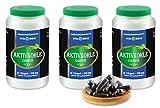 VITAIDEAL ® Aktivkohle (Activated Charcoal) 3x360 Kapseln je 350mg, rein natürlich, ohne Zusatzstoffe von NEZ-Diskounter