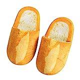 TUDUZ Unisex-Erwachsene Brot Pantoffeln, Warm Herbst Winter Hausschuhe, Home Schuhe (L, Gelb)