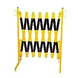 Scherengitter - mit Standfüßen - gelb/schwarz, Länge max. 4000 mm