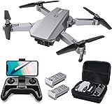 Tomzon D25 4K Drohne mit Kamera Faltbare FPV Drohne für Erwachsene, Lichtpositionierung, Handgestenfotografie, Bahnflug, 3D Flips, Fotofilter, Kopfloser Modus, Geteilter Bildschirm, 2 Akk