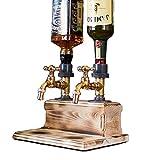 Flaschenhalterung Wand Flaschenhalter und Dosierer, Bar Accessoire für 3 Flaschen Schnaps, Limonade, Getränkespender