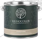 Lignocolor Wandfarbe Innenfarbe Deckenfarbe Kreidefarbe edelmatt 2,5 L (Weiss) 60 Farbtöne