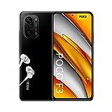 POCO F3 NFC Smartphone + Kopfhörer (16,94cm (6,67') AMOLED Display 120Hz, 8GB+256GB Speicher, 48MP Quad-Rückkamera, 20MP Frontkamera, Dual-SIM, Android 11) Schwarz - [Exklusiv bei Amazon]