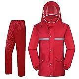 XWZJY Angel Camping Regenjacke, Premium Regenmantel mit Kapuze Leichte Wiederverwendbare Windbreaker Schutzkleider für Männer Frauen