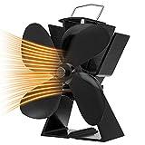 Ofenventilator mit 4 Flügeln, wärmebetriebener Holzofenventilator, umweltfreundlich, für Holzkamin