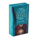 BEP 78 Karten Tarot Deck, Light Seer Tarot Oracle Divination Spielkarte für Anfänger Brettspiel, englische Ausgabe