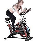 YLJYJ Heimtrainer, Indoor-Radfahren, Cardio-Training, 11 kg Schwungrad, verstellbarer Lenker und Sitz, Herzfrequenz-Sensoren und 6-Funktions-Monitor + Puls