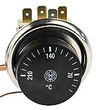 RS PRO Thermostat, 1-poliger Wechsler, 40°C +210°C, 16A ac, Kapillargefäß