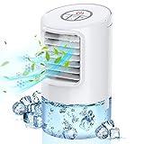 Nuaer Mobile Klimaanlage, tragbarer 3-in-1-Verdunstungskühler, persönlicher Mini-Luftkühler, Tischventilator mit 2h/4h-Timer und 80 ° Oszillation für Büro und Z