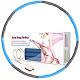 MPIO Hula Reifen Hoop für Fitness/Sport/Zuhause/BüRo/Bauchformung,8 abnehmbare Teile zum Einstellen der Breite des Hula Reifen Hoops,Hoola Hoop 1,2 kg Geeignet für Erwachsene,mit Mini-Maßband