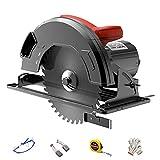 HIMNA PETTR 2200W Mini Handkreissäge, Schnittwinkel 45 ° und Tiefe 85mm, Elektrische Kreissäge mit Kupferdrahtmotor für Holz, Keramikfliesen, Metallfliesen