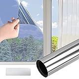 Colmanda Spiegelfolie Selbstklebend, Fensterfolie Sichtschutz Dachfenster Folie Sonnenschutzfolie Wärmeschutzfolie Dachfenster, Selbstklebend Sonnenschutzfolie Anti-UV für Innen (60*200cm)