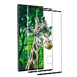 [2 Stück] Panzerglas Schutzfolie für Samsung Galaxy Note 10, [3D Vollständigen Abdeckung] Panzerfolie, 9H Härte, Anti-Bläschen, HD Clear, Schutzfolie Panzerglasfolie für Samsung Note 10 - Schwarz