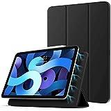 TiMOVO Hülle für iPad Air 4. Generation 10.9 Zoll 2020 / iPad Pro 11 Zoll 2018, Schutzhülle mit Auto Schlaf/Aufwach Funktion, Magnetisch Befestigung und Ladung für iPencil 2 - Schwarz