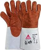 strongAnt FULDA - ISO Schweißerhandschuhe mit Isolations-Vollhandfutter, aus Sebatanspaltleder, Rindspaltleder-Stulpe Kevlar-Nähten TÜV GS - Größe: 8