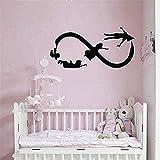 Hauptdekoration Wandaufkleber Innenaufkleber Peter Pan Schlafzimmer Babyzimmer Cartoon Fliegen Unendliches Symbol Kindergarten Wandbild 42x85cm