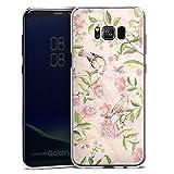 DeinDesign Hard Case kompatibel mit Samsung Galaxy S8 Plus Duos Schutzhülle transparent Smartphone Backcover Blumenkranz Natur Papagei