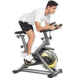 ANCHEER Heimtrainer Fahrrad, Fitnessbike mit APP-Verbindung,Ergometer Heimtrainer 150 kg Belastbar, Unbegrenzter Widerstand, Eine verbesserte Version eines ergonomischeren Indoor-Heimtrainers