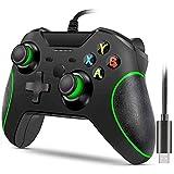 Xbox One-Controller mit Kabel,kabelgebundener Xbox One-Gamecontroller,USB-Gamepad-Gamecontroller,Xbox One-Controller mit Audio-Buchse Dual-Vibration,Geeignet für Xbox One,PC Windows 7/8/10