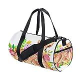 MONTOJ Große Reisetasche mit Blumen-Hirschmuster