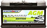 Electronicx Caravan Edition Batterie AGM 120 AH 12V Wohnmobil Boot Versorgung