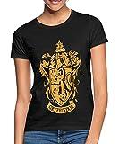 Harry Potter Gryffindor Wappen Logo Frauen T-Shirt, M, Schwarz
