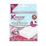 Kleeneze KL076519EU7 Magischer Schwamm | Einfach Wasser hinzugeben | Vielfältig verwendbar | 10er-Pack, White, 14.3 x 10.3 x 18.2