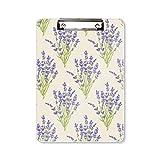 Blumen-, Pflanzenmalerei, Lavendel-Klemmbrett, Ordner, Schreibblock, Trägerplatte, A4