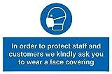 Um Mitarbeiter und Kunden zu schützen, bitten wir Sie, eine Gesichtsbedeckung zu tragen.