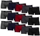 MERISH Boxershorts Men Herren 15er Pack Unterwäsche Unterhosen Männer Retroshorts 415 (L, 415b 15er Set Mehrfarbig)