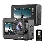 AKASO Brave 7 Action-Kamera, IPX8 wasserdicht, native 4K 20MP WiFi Cam mit Touchscreen EIS 2.0 Zoom Unterstützung, externes Mikrofon, Sprachsteuerung, Vlog-Kamera – Grau