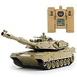 Ycco Drahtloses funkgesteuertes Monster-Reptil 2,4 GHz Militär-RC-Auto Übergroßer ferngesteuerter Panzer-Crawler-Streitwagen 1:24 Ferngesteuertes Hauptpanzer-Spielzeug kann abgefeuerte Waffen und Gebu