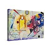 PICANOVA – Wassily Kandinsky – Yellow Red Blue 120x80cm – Premium Leinwanddruck – Kunstdruck Auf 2cm Holz-Keilrahmen Für Schlaf- Und Wohnzimmer – Kollektion Klassische Kunst