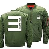 Herrenjacke - Casual Lightweight Sportswear Jacket Langhülse Fluganzug Mit Reißverschlusstaschen Green-XX-Large