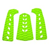 SALUTUYA Anti-Vibration Stomp Pad mit Squarea-Loch für Skimboard(Green)