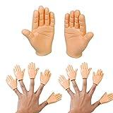 SEVENHOPE Mini Finger Hände Lustige Fingerpuppe -Spiel, Party, Haustier, Streich, Zaubertricks, Goodie Bag Füller- Tiny Hands Finger Halloween Weihnachten Handzubehör (10 * Handfläche)