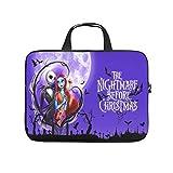 Sally und Jack Halloween Nightmare Before Christmas Laptoptasche Kratzfest Schutzhülle für Laptops Stilvolle Notebooktasche für Uni Arbeit Business White 15 Zoll