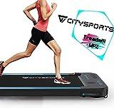 CITYSPORTS Laufband mit 440 W Elektromotor, integrierte Bluetooth-Lautsprecher, einstellbare Geschwindigkeit, LCD-Bildschirm und Kalorienzähler,