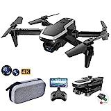 allcaca S171 Mini Faltbare Drohne RC-Quadcopter mit 4K-Doppelkameras | kopfloser Modus | Höhe halten | 3D Flip | Flugbahn | Sprachsteuerung | Start mit Einer Taste | Landung für Anfänger, Schw
