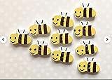 Generic 10 Bienenknöpfe aus Holz, Bienenknöpfe, Hummelknöpfe, Bastelknöpfe, Nähzubehör, Neuheit Knöpfe