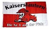 Fahne / Flagge Kaiserslautern Bulldogge Fan 90 x 150 cm
