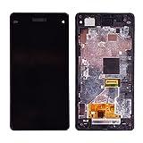 DINGMINGMING Bildschirm ersetzen Fit für Sony Xperia Z1 Compact Mini LCD Display Touchscreen mit Rahmen Fit für Sony Xperia Z1 Mini Compact LCD D5503 M51W (Color : Black)