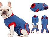 Tineer Dog Recovery Suit - Reine Baumwolle E Collar Alternative für Hunde Schutz-Welpen-Wunden nach Chirurgie-Haustier-Abnutzung - Verhindern Sie lecken, beißen, und Belästigung Anderer Haustiere (M)